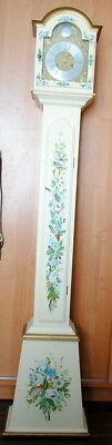 Old Grandfather Clock hand painted Danish H 175cm