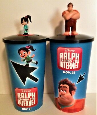Ralph Breaks the Internet Movie Theater Exclusive Cup Topper Set With 44 oz Cups