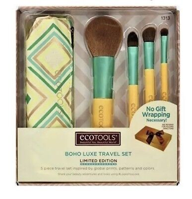 Ecotools BoHo Luxe Travel Set, Limited Edition, 5 Brush Set Makeup tools New