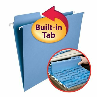 Smead® FasTab® Hanging File Folders, Letter Size, Blue, Box Of 20