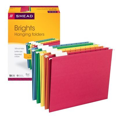 Smead(R) Color Hanging Folders, Letter Size, Brights, Pack Of 25, 64059