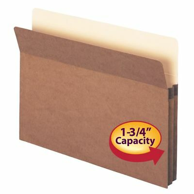 """Smead Redrope 1 3/4"""" Expanding File Pockets, Letter Size, Redrope, 25-Pk"""