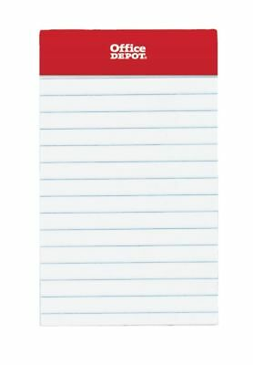 """Office Depot Brand Mini Perforated Legal Pad, 3"""" x 5"""", White, Pack Of 6 Pads"""