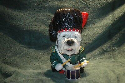 Westie Cookie Jar Scottish Drummer, porcelain
