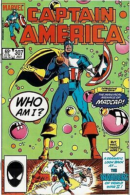 CAPTAIN AMERICA #307 - 1st appearance of MADCAP - VF
