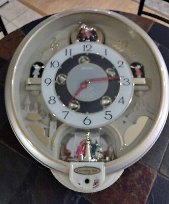 "SEIKO MELODIES IN MOTION CHARMING BELL WALL CLOCK * READ* 17""T x 14""W QXM321SRH"
