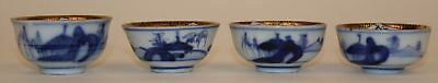 4 Chinese Or Japanese Sake? Cups With Inscriptions