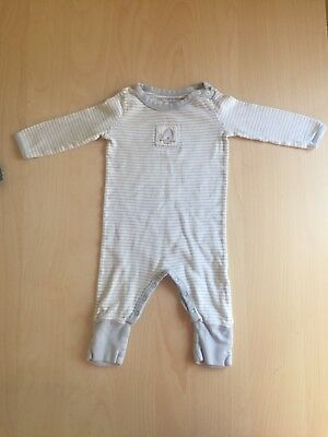 Burts Bees Baby Boy 3-6 Months Outfit Romper Striped  Fall