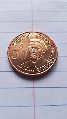 2011 Uruguay 50 Pesos, Bicentennial of Independence, Extremely Nice Uncirculated
