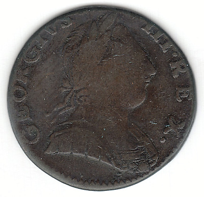 1775 Great Britain George III 1/2d Half Penny Copper (Colonial origin?)