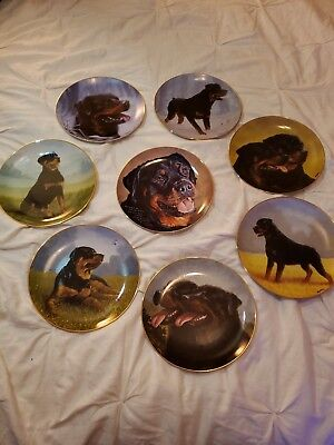 The Danbury Mint Rottweiler Collector Plates - Set of 8