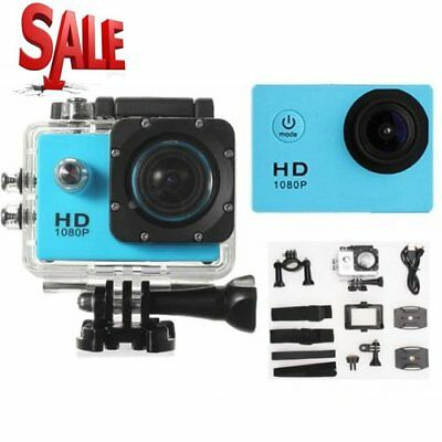 Waterproof Full HD 1080P 12MP Car Cam Sports Action Camera DV Camcorder Blue NEW