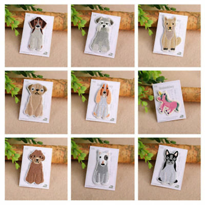 Cute Dog Unicorn Animal Embroidery Clothing DIY Sew/Iron Patches Appliques Craft