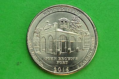 2016-S   BU Mint State ( Harpers Ferry ) US National Park Quarter