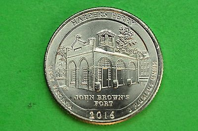 2016-P   BU  Mint State  ( Harpers Ferry) US  National Park Quarter