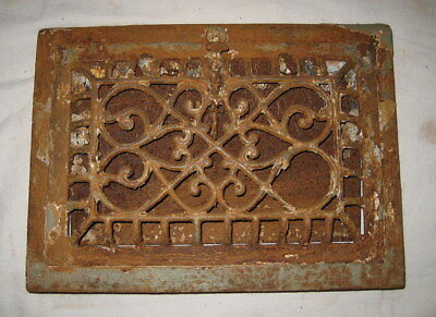 Antique Victorian Edwardian Art Deco Cast Iron Heat Register