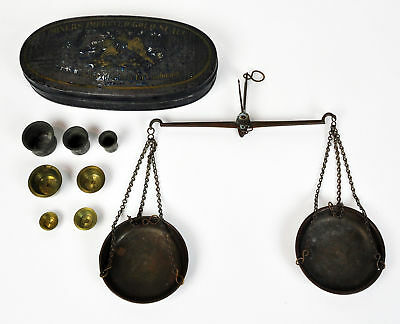 Oval Miners Improved Pocket Scale California Gold Rush Germany Prospector Mining
