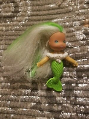 8472d6094c69 Vintage Kenner SEA WEES Breezy Mermaid Icy Gals See Wee Mom Green Doll