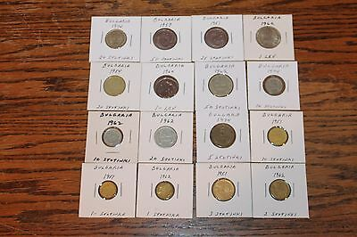 Vintage Lot Of 16 Coins From Bulgaria - 1951 To 1974 - Stotinki & Lev
