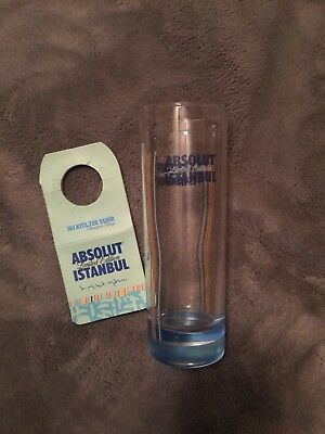 """""""Rare"""" Absolut Vodka Istanbul Glass And Bottle Neck Tag"""