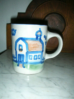 M. A. Hadley Pottery Coffee Cup Mug Hand Painted Signed - Home Cottage BARN