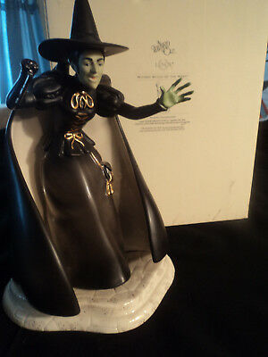 "Lenox Wizard of Oz Wicked Witch of the West 9"" porcelain figurine; damaged hand"