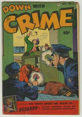 Down With Crime #4 (1952) VG