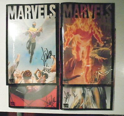Marvels #1-4 Stan Lee Autograph X 4! Each Book Signed! Marvel Comic Books NM