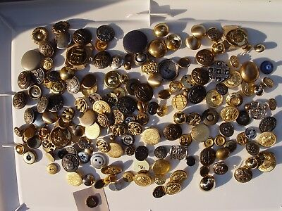 LOT of Vintage METAL Buttons Military Coins European Crests LOTS OF SIZES
