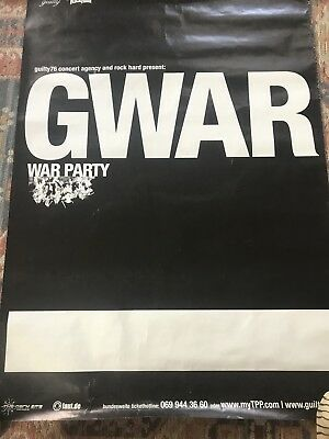 Gwar 2004 2005 War Party Germany Tour Poster Large Original Rare 23 X 33 Inches
