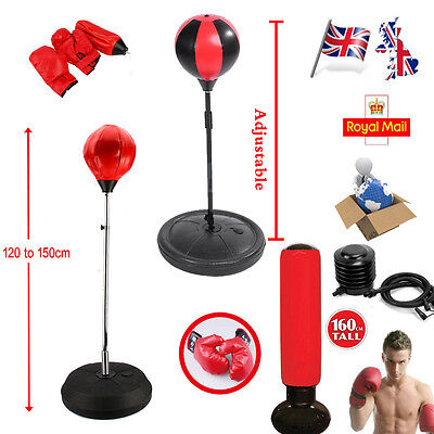 Adjustable Inflatable Punching Ball Bag Boxing Stand Sports Set Or Filling Water