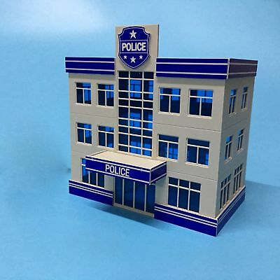 Outland Police Station Building Model 1:87 HO Scale 3 Story Police Office Model