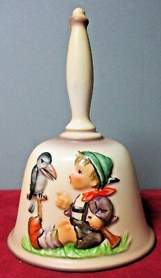1986 GOEBEL M.J. HUMMEL 9th Edition Handcrafted ANNUAL BELL ~ Made in W. Germany