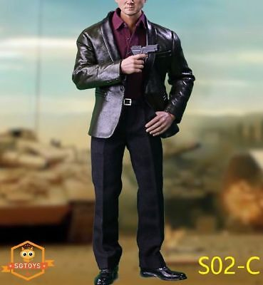 SGTOYS S02C 1//6 Men/'s clothing Leather Suit Clothes Set Fit PH//COOMODEL Body
