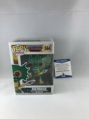 Alan Oppenheimer Signed Masters Of The Universe Merman Funko Pop Bas Beckett