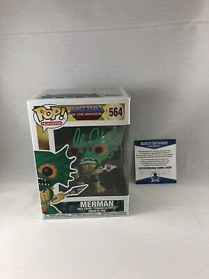 Alan Oppenheimer Signed Masters Of The Universe Merman Funko Pop Bas Beckett 2