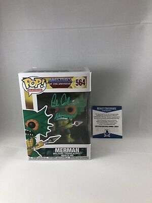 Alan Oppenheimer Signed Masters Of The Universe Merman Funko Pop Bas Beckett 3