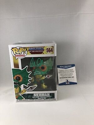 Alan Oppenheimer Signed Masters Of The Universe Merman Funko Pop Bas Beckett 4