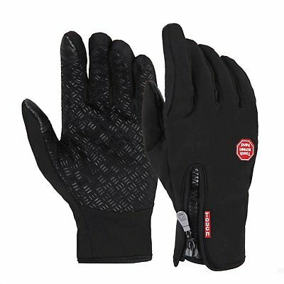 Wasserdicht Thermo Winter Handschuhe Finger Touch klappbar Sport Warm Gloves