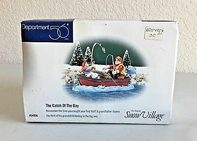 Department 56 Snow Village THE CATCH OF THE DAY Fishing Boat