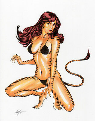 Tigra! Original Art by MC Wyman
