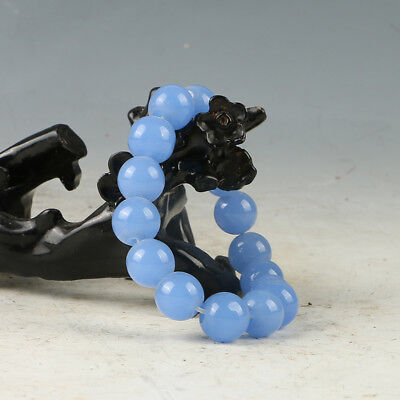 Chinese Hand-carved Natural Jade Bead Bracelet RS005+a
