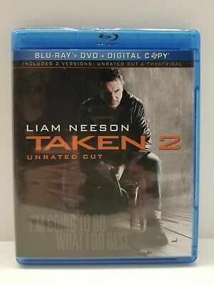 Taken 2 - unrated cut & Theatrical versions: Blu-ray/DVD movie - NO SCRATCHES
