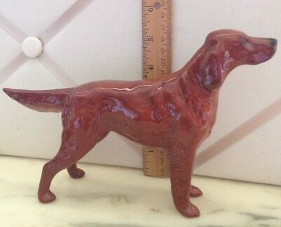 Vintage Beswick England Irish Setter - A Sporting Dog In Full RED Coat!
