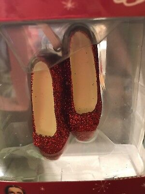 New in Box Hallmark Wizard of Oz Dorothy's Ruby Red Slippers Ornament