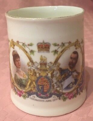 KGV 1911 CORONATION TEA CUP JUNE 22nd 1911 KING GEORGE MEIR CHINA THOMAS SUTTON