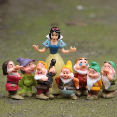 8PCS/Kit Princess Snow White and the Seven Dwarfs Figures Cake Topper Toy Kids
