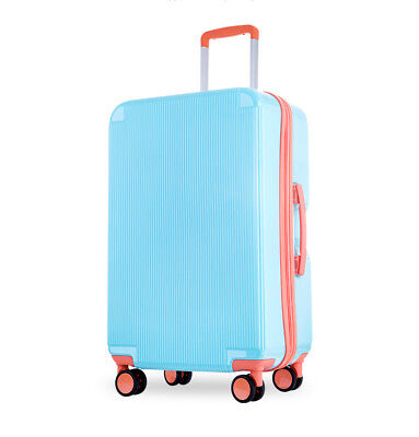 D946 Blue Lock Universal Wheel ABS+PC Travel Suitcase Luggage 20 Inches W