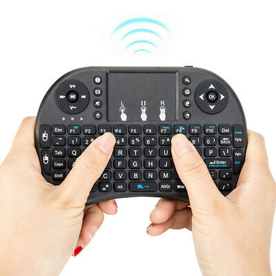 Mini Wireless Bluetooth Remote Touchpad Keyboard for PC Android Smart TV 2.4GHz.