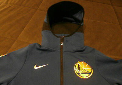 Golden State Warriors Worm up Jacket Boys size 10. Blue, Black & Gold. Nike.